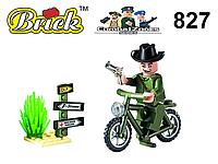 Конструктор Brick Enlighten 827 Combat Zones Secret Agent Секретный агент 20 деталей 1 фигурки lego лего