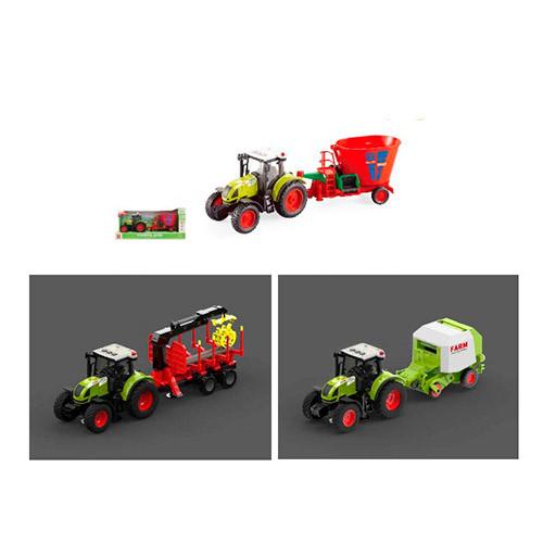 Трактор WY900KLM (18шт) с прицепом, инер-й, 1:16, 38см, зв,св, 3вида,на бат-ке,в кор-ке, 42-19-12см