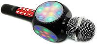 WSTER WS-1816 беспроводной караоке микрофон со светомузыкой. Детский микрофон.