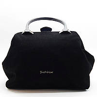 Удивительная женская сумочка из натуральной замши черного цвета ВВВ-2007719