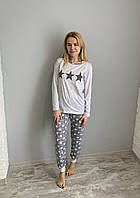 Пижама женская Asma Звезды с манжетам