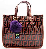 Строгая женская сумочка коричневого цвета (кожа) ВВВ-200551