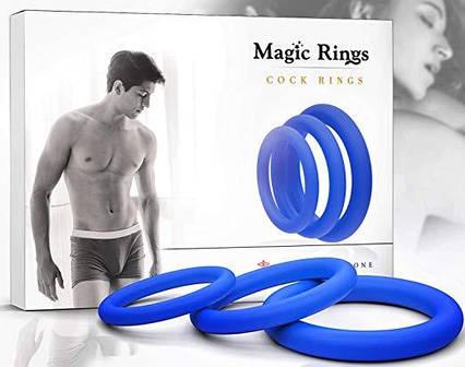 Эррекционное кольцо для продления оргазма набор 3 шт , фото 2