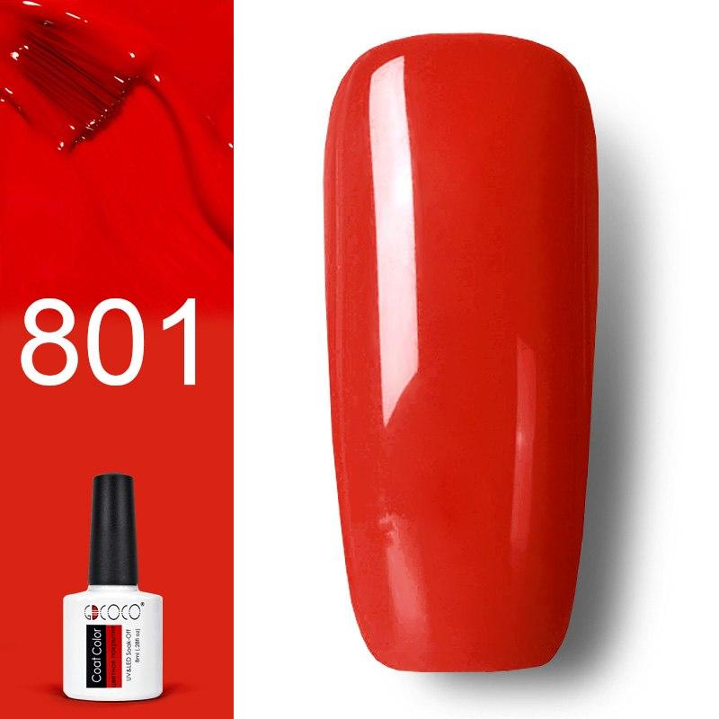 Гель лак GDCOCO 8мл. 801 -ярко-красный