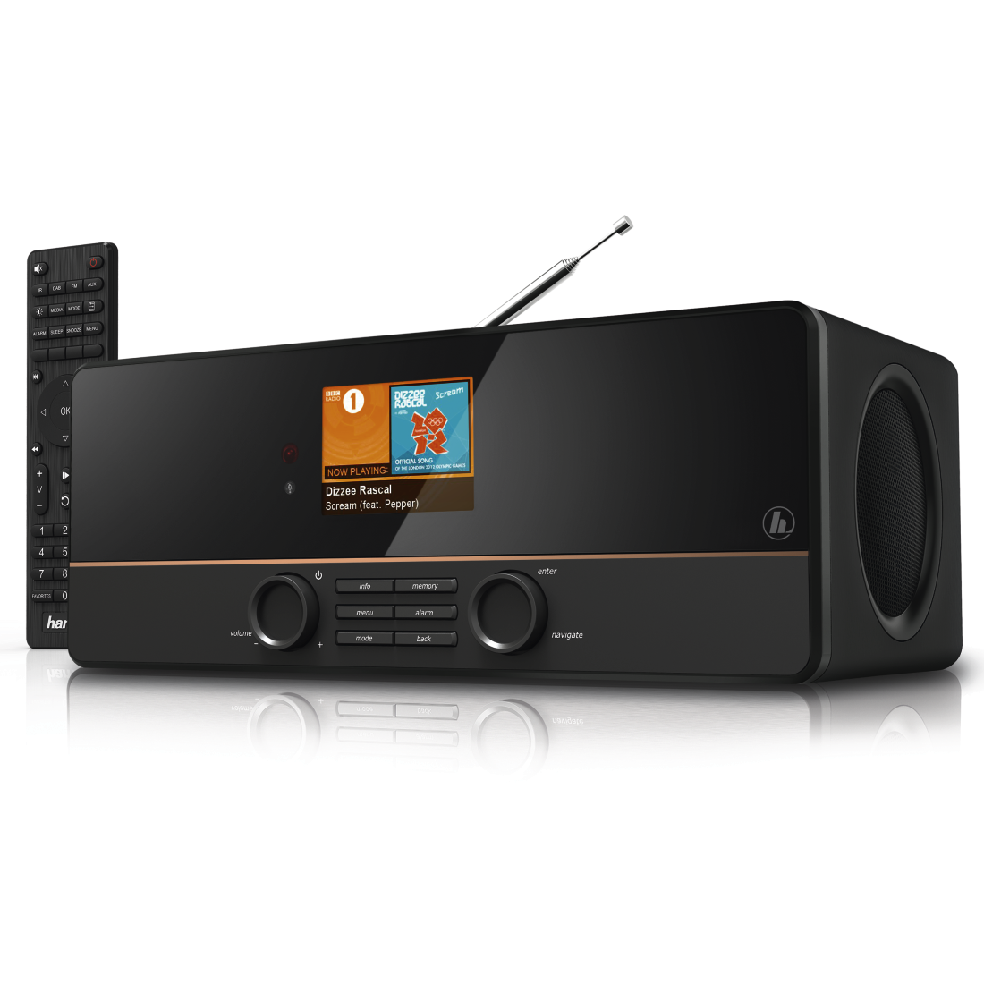 Радиоприемники, бумбоксы и магнитолы HAMA DIR3115MS black