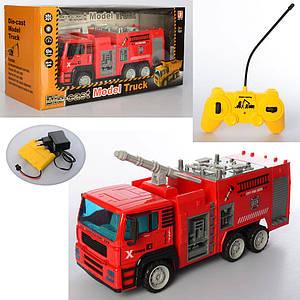 Пожарная машина TR678-187-8-9 (8шт) р/у, аккум, металл, 1:12,36см,св,3вида,в кор,51-24-16см