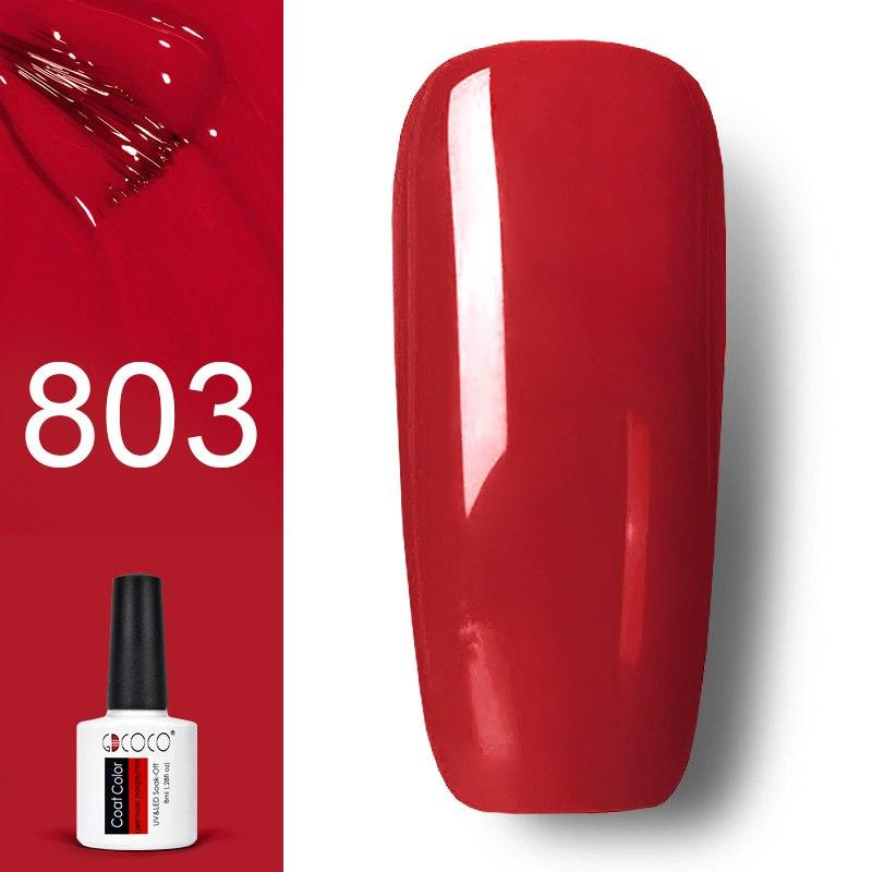 Гель лак GDCOCO 8мл. 803 -темно- красный
