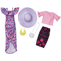 Барби Одежда  Barbie Ruffles And Floral Fashion 2 Pack