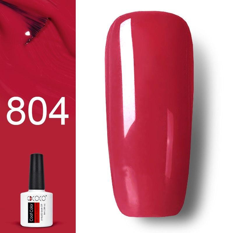 Гель лак GDCOCO 8мл. 804 -червоно -рожевий