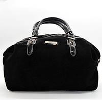 Прекрасная женская сумка ВАLIVIYА из экокожи черного цвета (замша) ВВВ-200773