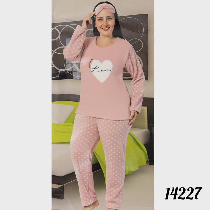Пижама женская большого размера сердечко