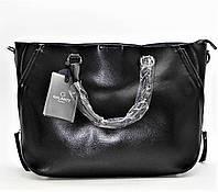 Стильная женская сумка GАLАNTY из натуральной кожи черного цвета ВВВ-200799