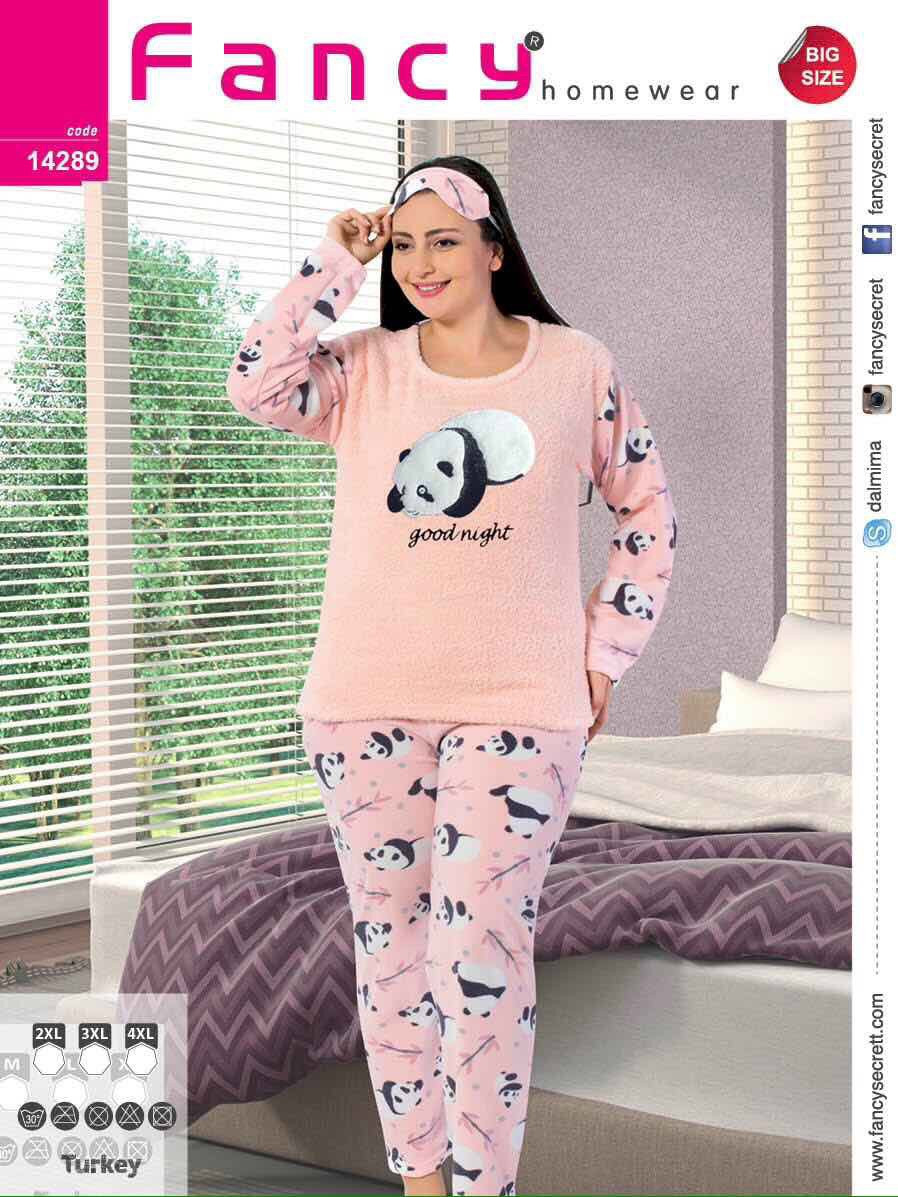 Пижама женская большого размера панда