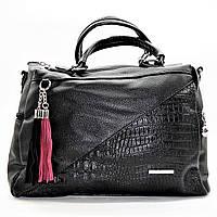 Симпатичная женская сумочка экокожа черного цвета ВВВ-200660