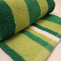 Полотенце лицевое махровое зеленое с оливой 70*40