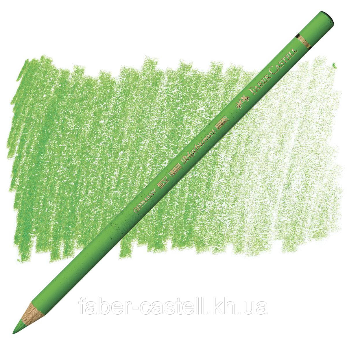 Карандаш цветной Faber-Castell POLYCHROMOS травяная зелень №166 (Grass Green), 110166