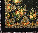 """Платок шерстяной с шерстяной бахромой """"Летние сумерки"""", 125х125 см. рис. 1219-19, фото 2"""