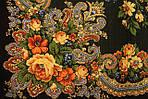 """Платок шерстяной с шерстяной бахромой """"Летние сумерки"""", 125х125 см. рис. 1219-19, фото 4"""