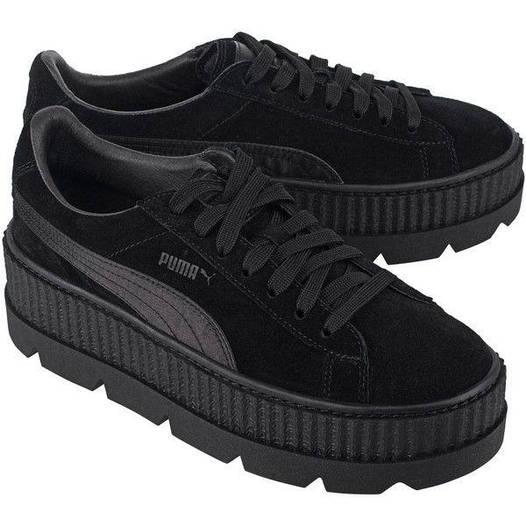 Женские кроссовки Puma Rihanna Fenty Suede Platform full Black (в стиле  Пума Фенти) черные 2b336ebf5f5e0