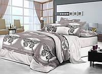 Двуспальный комплект постельного белья евро 200*220 сатин (10902) TM КРИСПОЛ Украина