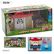 """Домик """"Happy Family"""", флоксовые животные, в кор. 41*20,5*17,5см (12шт)"""