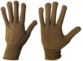 Перчатки женские нейлоновые с ПВХ точкой (упаковка 12 пар)