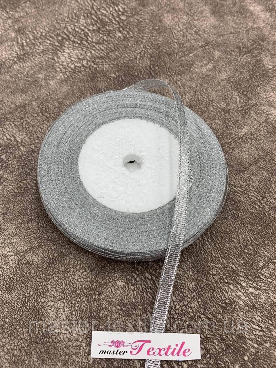 Лента парча 0.5 см (серебро) 23 м