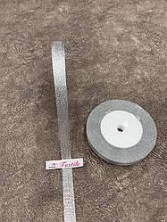 Стрічка парча 1 см (срібло) 23 м