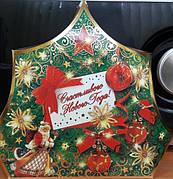 "Коробка для упаковки конфет и подарков ""ЯЛИНКА/ЩАСЛИВОГО НОВОГО РОКУ"", 25*20см, цена за уп. 12шт/уп"