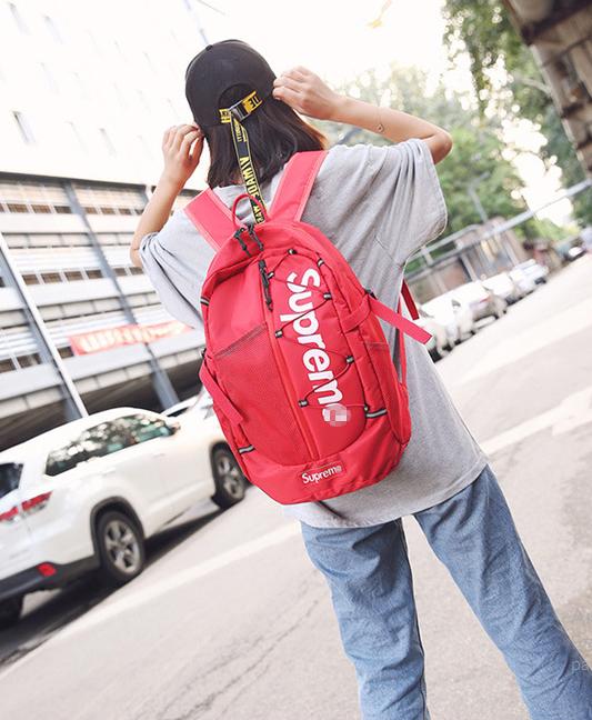 Рюкзак классный  Supreme красный