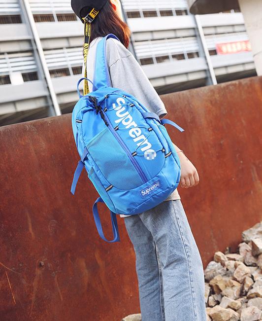 Рюкзак красивый голубой Supreme