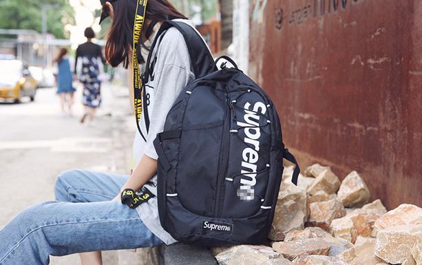 Рюкзак красивый чёрный Supreme