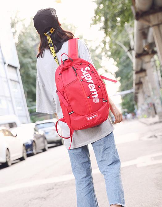Рюкзак красный молодёжный Supreme