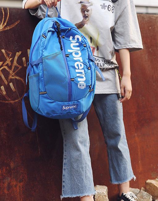 Рюкзак голубой молодёжный Supreme