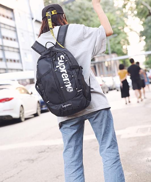 Рюкзак современный чёрный Supreme