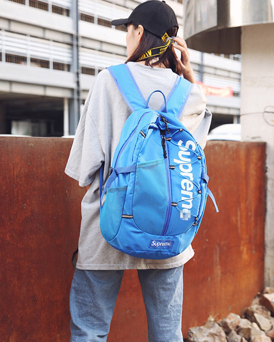 Рюкзак городской голубой