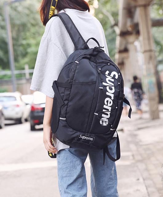Рюкзак чёрный молодёжный Supreme