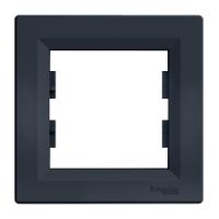 Рамка одномісна, горизонтальна, Schneider Electric Asfora антрацит
