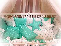 Комплект в кроватку. бортики, защита в кроватку