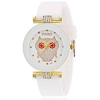 Женские часы Pinbo Сова Белые