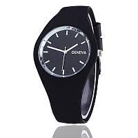 Часы женские Geneva силиконовые Черные