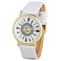 Часы наручные женские GENEVA Перо Белые