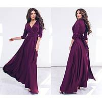 Вечернее  платье в пол женское шелковое 1155
