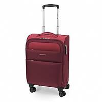 Маленький чемодан ткань красный колеса Gabol Cloud (S) Red Валіза мала тканина червона колеса