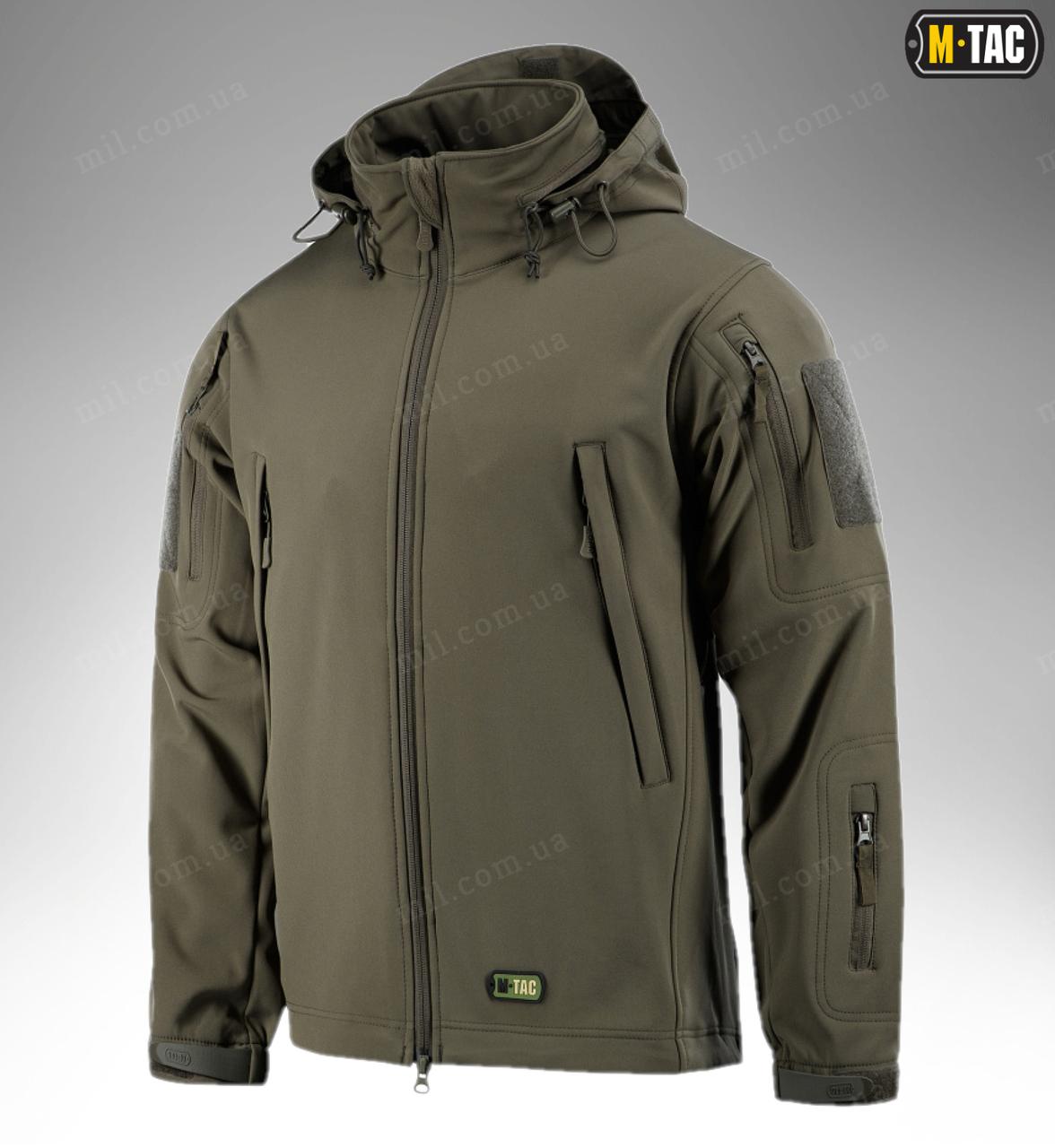 Демисезонная тактическая куртка M-TAC Soft Shell (olive)