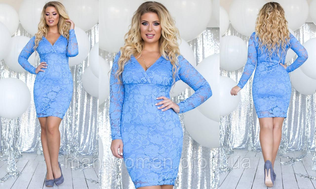 Кружевное платье большого размера от ТМ SOROKKA- Размеры: 48,50,52,54