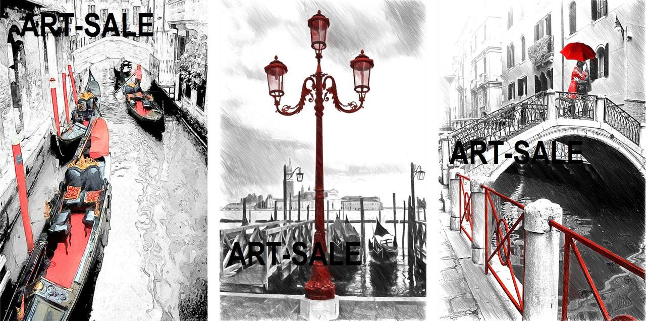 Модульная картина Венеция влюбленные