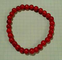 Браслет Коралл красный натуральный 8 мм