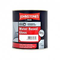 Краска на водной основе Johnstones Water Based Gloss (глянцевая, белая) 1 л