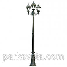 Светильник парковый, стар/медь Real I QMT 31561SE